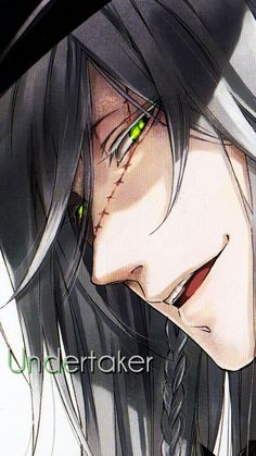 beautiful, black butler, and green eyes de anonymous Black Butler Undertaker, Black Butler Sebastian, Black Butler 3, Black Butler Anime, Cosplay, Anime Pictures, Black Butler Characters, Book Of Circus, Hot Anime Boy