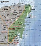 Quintana Roo Mexico Map