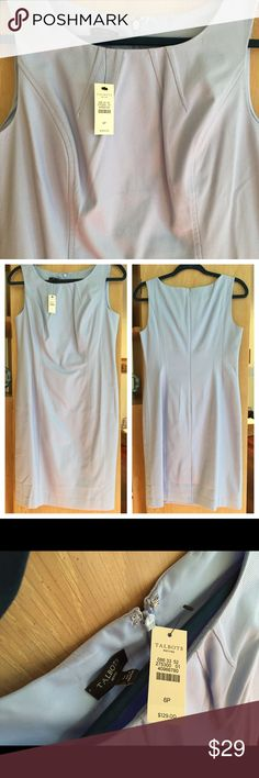 NWT Talbots light blue sheath dress • Sz 6 Beautiful light blue sheath dress from Talbots. Never worn. Super comfy (I wore navy blue one I bought at same time). Some fold lines from original shipping. Flattering fit.  Size 6. Talbots Dresses