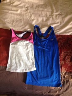 Item: Two athletic tanks under Armour & Adidas small