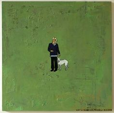 Dick Frizzell - Lady With a Dog Kiwiana, Andy Warhol, Paintings, Artists, Cartoon, Gallery, Lady, Dogs, Character