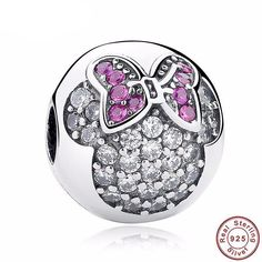 minnie and mickey mouse disney theme charm beads fit pandora bracelet pendants 925 sterling silver bangle accessories jewelry winnie the pooh king queen princess prince crown Pandora Bracelets, Pandora Jewelry, Charm Jewelry, Charm Bracelets, Diy Jewelry, Diy Bracelet, Women Jewelry, Trendy Bracelets, Travel Jewelry