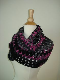 Funky/ Small/ Teen/ Handmade Crochet Cowl/Scarf by Belisse on Etsy