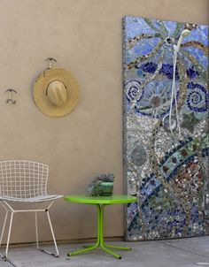 Stunning mosaic art (yes, it's a shower, but I would skip that part)