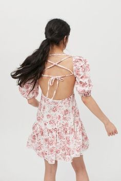Shop MINKPINK Love Story Strappy Back Mini Dress at Urban Outfitters today. Discover more selections just like this online or in-store. Shop your favorite brands and sign up for UO Rewards to receive 10% off your next purchase! Square Necklines, Love Story, Urban Outfitters, Mini, Sleeves, Cotton, Tops, Dresses, Products