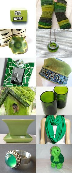 Go Green!! by Jennifer / recycleparty team upcycled repurposed