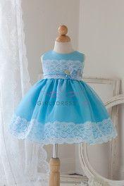 Turquoise Lace Infant Dress
