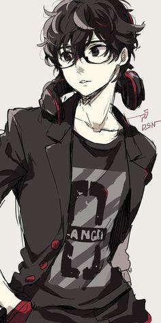 Persona 5 Alternative world Hot Anime Boy, Cute Anime Guys, Anime Boys, Manga Anime, Fanarts Anime, Manga Boy, Anime Nerd, Anime Cosplay, Kawaii Anime