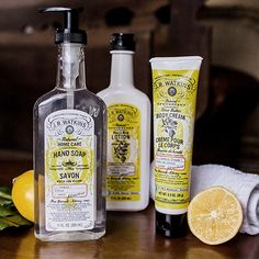 Lemon scented lotions and more that bring out your zest for being pampered.