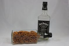 Jack Daniel's Serving Dish, Jack Daniel's Planter,  Upcycled from Jack Daniel's Bottle on Etsy, $28.00