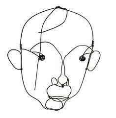 """Portrait of Miro"" Alexander Calder 1930."