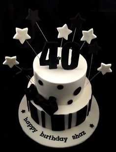 40th Birthday Cake - Black White | Flickr - Photo Sharing! Love this @Paula manc manc Walsh