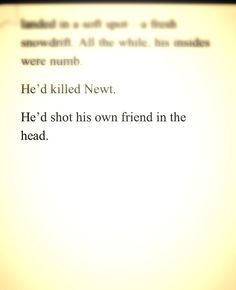 Why did this happen? Why????? I can't live like this, knowing Newt is dead! Why!!! The Maze Runner :'(