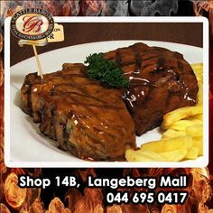 Cattle Baron Mossel Bay specializes in steak dishes and we would like to know which is your favorite cut of beef, Sirloin, Rump or T-Bone? Give us your comment and let's see which is the most popular. Rump Steak, Beef Sirloin, Steak Dishes, Feel Good Food, Baron, Cattle, Buffet, Menu, Dinner