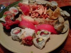 I found the best sushi buffet in the area!