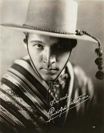 Publicity portrait of Rudolph Valentino as Julio Desnoyers in the 1921 Metro Pictures productionThe Four Horsemen of the Apocalypse.