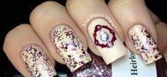 antique cameo nail art