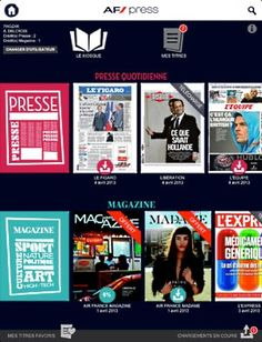 Air France provides travelers with free magazines for tablets with AF Press