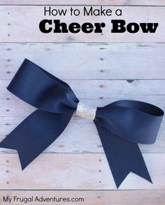How to Make a Cheer Bow for Girls- these are so cute and so easy to make yourself for a fraction of the price! Perfect for school, holiday outfits, sports, dance or cheer!