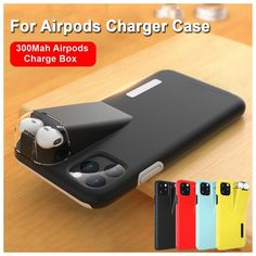 For iPhone 11 Pro Max Xs Xr Hybrid Silicone Airpods Charging Box Case Cover - Ideas of Iphone Charging Case Iphone 8, Iphone 7 Plus, Iphone Cases, Free Iphone, Cell Phone Covers, Hard Phone Cases, Apple Airpods 2, Airpod Case, New Gadgets