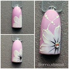 Oink And White Flower Nails Nailart & rosa und weiße blumen-nagel-kunst Oink And White Flower Nails Nailart & nail art designs Pretty. nail art designs For Winter.