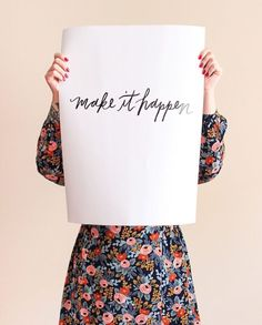 As if yesterday's free calendar roundup didn't get your ink flowing, I'm back today with two hand lettered printables from Jordan Brantley! You might remember Jordan from the printables she did… Impression Textile, Free Calendar, Printable Letters, Printable Art, No Rain, Make It Happen, Modern Calligraphy, Wise Words, Free Printables
