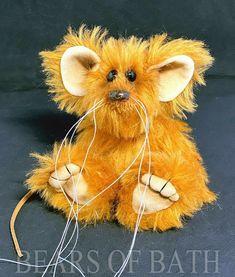 Satsuma a 5.5 inch Mohair Artist Mouse Bear by Bears of Bath #BearsofBath Sculpting, Bears, Teddy Bear, Artist, Fabric, Animals, Tejido, Sculpture, Tela