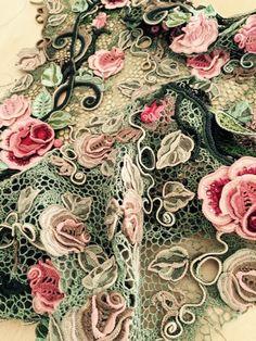 Asia Verten. Irish crochet. Freeform. Motifs. Dress. Ирландское кружево. Техника…