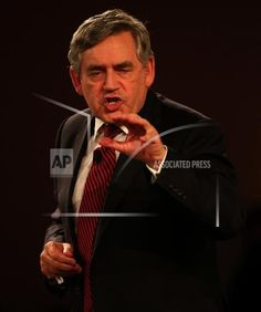"""Former Prime Minister Gordon Brown speaks to an audience at the Glasgow Royal Concert Hall whilst on the Scottish Referendum campaign trail on Friday September 12, 2014. Both Brown and Labour leader Ed Miliband have said that voting No in next week's referendum will bring about a """"faster, better, safer change"""" for Scotland than voting for independence. Photo/Andrew Milligan/PA Wire/ (Press Association via AP Images)"""
