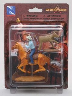 Western Rodeo Calf Roping Buckskin Horse by New Ray. $5.83. Features Horse, Cowboy and Calf. Makes a great childrens gift!. Suitable for children ages 3 & up. This playset features a horse with cowboy and calf