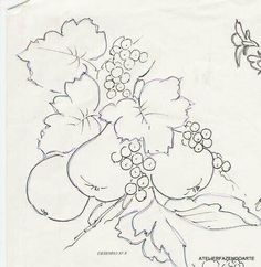 Fruit Coloring Pages, Colouring Pages, Quilt Block Patterns, Pattern Blocks, Embroidery Patterns, Hand Embroidery, Pencil Drawings, Art Drawings, Banksy