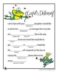 Valentines Mad Lib - Cupid's Delivery