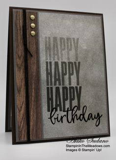 Bday Cards, Birthday Cards For Men, Male Birthday, Masculine Birthday Cards, Masculine Cards, Homemade Birthday Cards, Homemade Cards, Stamping Up Cards, Fathers Day Cards