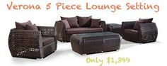 Image result for verona 5pc outdoor wicker lounge setting