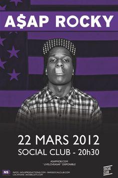 A$AP Rocky le 22 mars au Social Club.