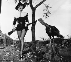 Marilyn Monroe and turkey...