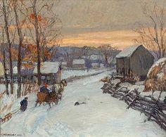 Bucks County Paysage de Edward Willis Redfield (1869-1965, United States)