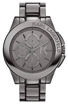 KARL LAGERFELD 'Energy' Chronograph Bracelet Watch, 44mm. LOVE LOVE LOVE