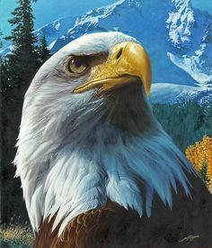 """ Eagle Mountain "" oil painting #OilPaintingOwl #OilPaintingButterfly"