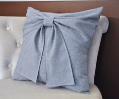 Grey Nursery Grey Big Bow Pillow x Throw Pillow - Products - Cool Decorative Pillows Bow Pillows, Grey Pillows, Cheap Decorative Pillows, Decorative Throw Pillows, Living Room Decor Pillows, Pillow Arrangement, Urban, Turquoise, Floral