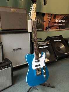 G&L ASAT Classic S, Electric Guitar Designed by Leo Fender, Made in the USA - Lake Placid Blue