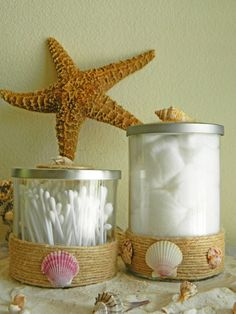 Hey, I found this really awesome Etsy listing at https://www.etsy.com/listing/193994386/tropical-container-set-nautical-bathroom