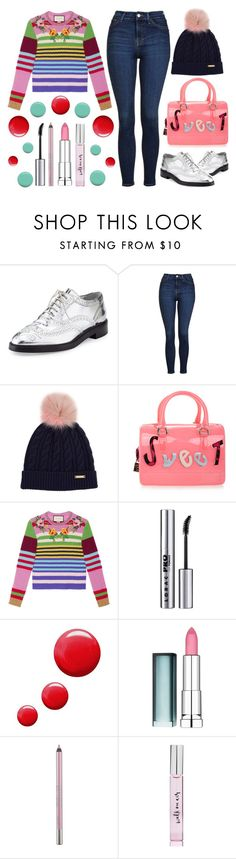 """""""The Sweet Life"""" by latoyacl ❤ liked on Polyvore featuring Burberry, Topshop, Furla, Gucci, LORAC, Maybelline, Urban Decay, Kate Spade and Jin Soon"""