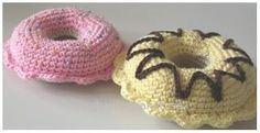 Free crochet pattern and tutorial, doughnuts. Swedish.