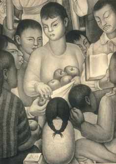 Fruits of Labor Diego Rivera (Mexican, Guanajuato Mexico City) Date: 1932 Medium: Lithograph Diego Rivera Art, Diego Rivera Frida Kahlo, Frida And Diego, Natalie Clifford Barney, Mexican Artists, Mexican Folk Art, Sculpture Textile, Harvard Art Museum, Statues