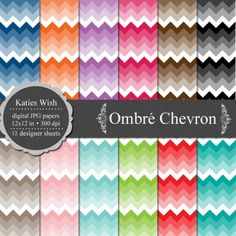 Ombre paper from katie's Wish on Etsy