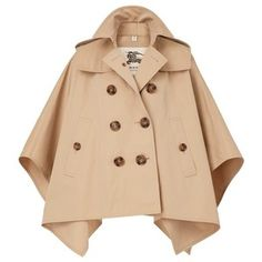 Burberry Cotton Gabardine Trench Cape