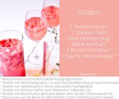 kukuwaja: So schmeckt der Sommer: alkoholfreie Melonen-Himbeer-Bowle