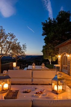 During the summer months, the huge outdoor terrace offers a romantic spot for star gazing. #Jetsetter Conti di San Bonfacio (Tuscany, Italy)