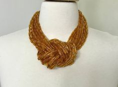 Spectacular ANGELA CAPUTI Multi Strand Knotted Amber Color Necklace | Jewelry & Watches, Vintage & Antique Jewelry, Costume | eBay!